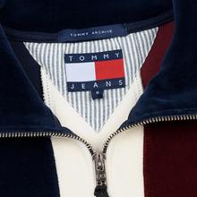 Женская толстовка Tommy Jeans Heritage Mock Neck Velour Navy Blazzer/Multi фото- 1