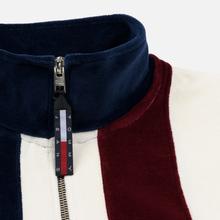 Женская толстовка Tommy Jeans Heritage Mock Neck Velour Navy Blazzer/Multi фото- 3