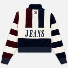 Женская толстовка Tommy Jeans Heritage Mock Neck Velour Navy Blazzer/Multi фото- 4