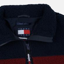 Женская толстовка Tommy Jeans Heritage Sherpa Fleece Navy Blazer/Multi фото- 1