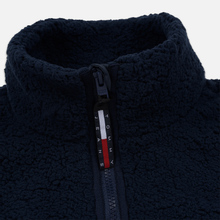 Женская толстовка Tommy Jeans Heritage Sherpa Fleece Navy Blazer/Multi фото- 2