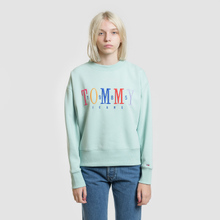 Женская толстовка Tommy Jeans Multicolor Embroidery Crew 1985 Canal Blue фото- 1