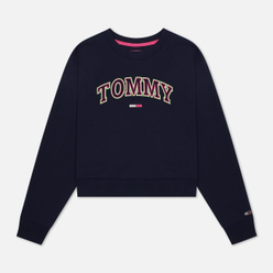 Женская толстовка Tommy Jeans Neon Outline Crew Black Iris