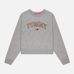 Женская толстовка Tommy Jeans Neon Outline Crew Light Grey Heather
