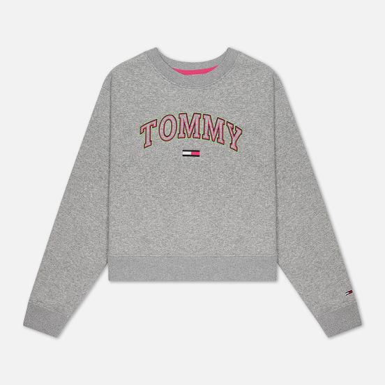 Женская толстовка Tommy Jeans Neon Outline Crew Light Grey Heather