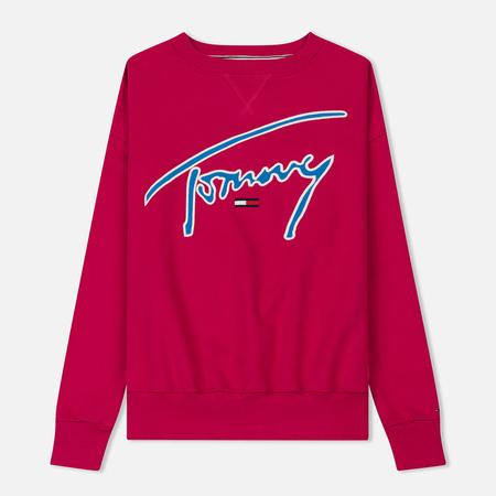 Женская толстовка Tommy Jeans Signature Crew Neck Cerise