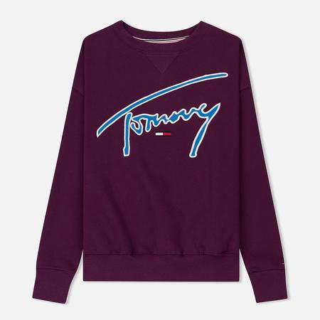 Женская толстовка Tommy Jeans Signature Crew Neck Dark Purple