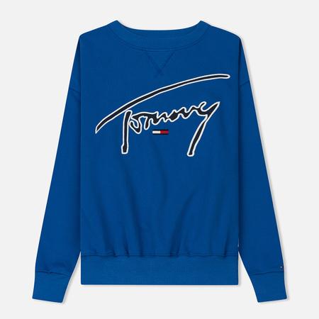 Женская толстовка Tommy Jeans Signature Crew Neck Surf The Web