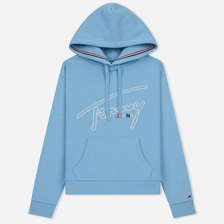 Женская толстовка Tommy Jeans Signature Hoody Alaskan Blue