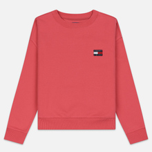 Женская толстовка Tommy Jeans Tommy Badge Crew Claret Red фото- 0