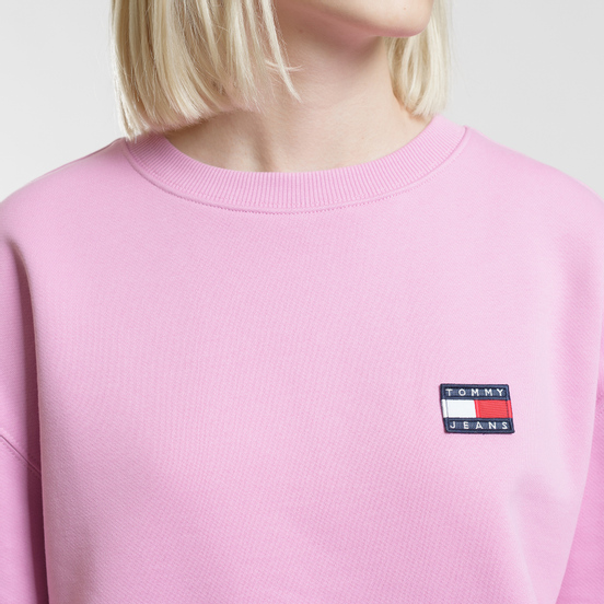 Женская толстовка Tommy Jeans Tommy Badge Crew Lilac Chiffon