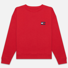 Женская толстовка Tommy Jeans Tommy Badge Crew Racing Red фото- 0