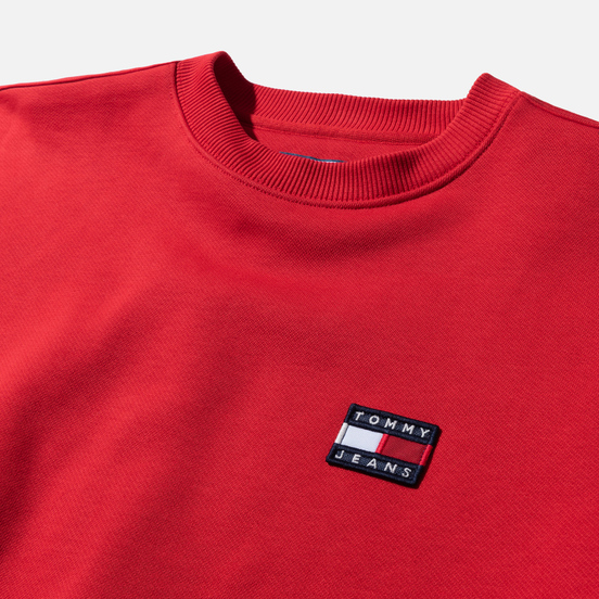 Женская толстовка Tommy Jeans Tommy Badge Crew Racing Red