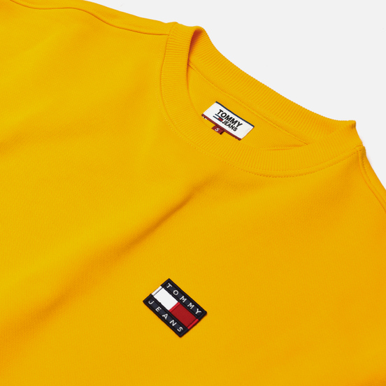 Женская толстовка Tommy Jeans Tommy Badge Crew Spectra Yellow