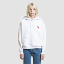 Женская толстовка Tommy Jeans Tommy Badge Hoodie Classic White фото- 1