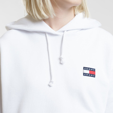 Женская толстовка Tommy Jeans Tommy Badge Hoodie Classic White фото- 2