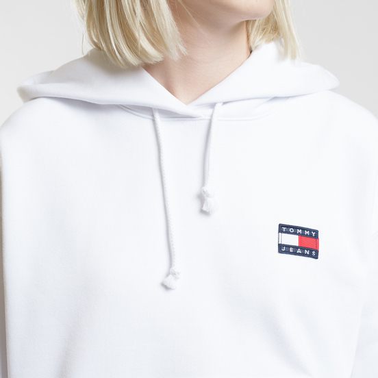 Женская толстовка Tommy Jeans Tommy Badge Hoodie Classic White