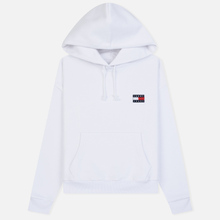 Женская толстовка Tommy Jeans Tommy Badge Hoodie Classic White фото- 0