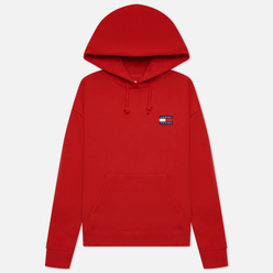 Женская толстовка Tommy Jeans Tommy Badge Hoodie Deep Crimson