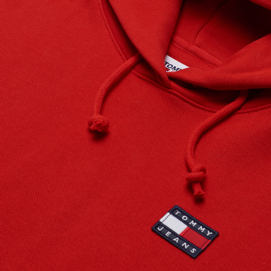 Женская толстовка Tommy Jeans Tommy Badge Hoodie Deep Crimson