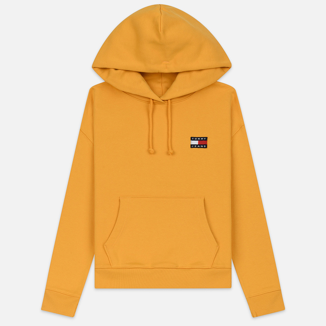 Женская толстовка Tommy Jeans Tommy Badge Hoodie Golden Glow
