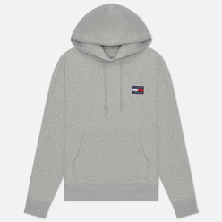 Женская толстовка Tommy Jeans Tommy Badge Hoodie Light Grey Heather