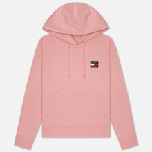 Женская толстовка Tommy Jeans Tommy Badge Hoodie Pink Icing фото- 0
