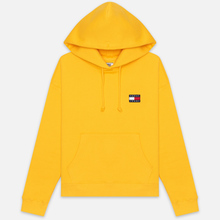Женская толстовка Tommy Jeans Tommy Badge Hoodie Spectra Yellow фото- 0