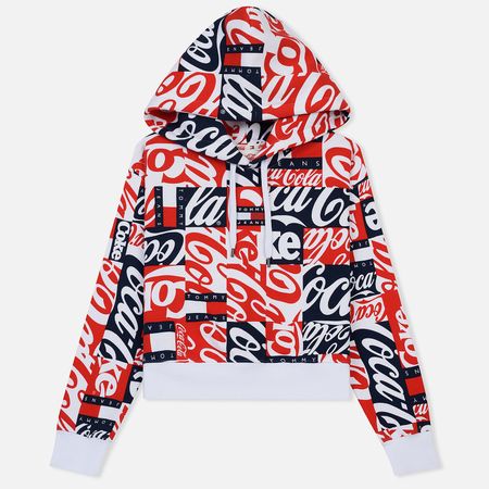 Женская толстовка Tommy Jeans x Coca-Cola All Over Print Hoodie Red