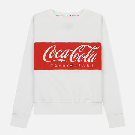 Женская толстовка Tommy Jeans x Coca-Cola Logo Crew Bright White