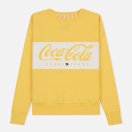 Женская толстовка Tommy Jeans x Coca-Cola Logo Crew Primrose Yellow