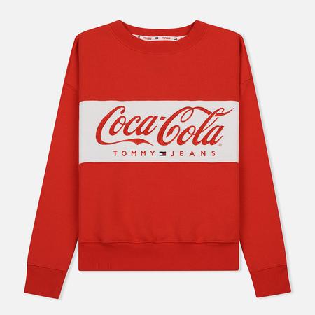Женская толстовка Tommy Jeans x Coca-Cola Logo Crew Red