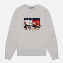 Женская толстовка Tommy Jeans x Looney Tunes Crew Neck Pale Grey Heather