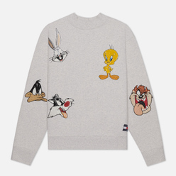 Женская толстовка Tommy Jeans x Looney Tunes Crew Pale Grey Heather