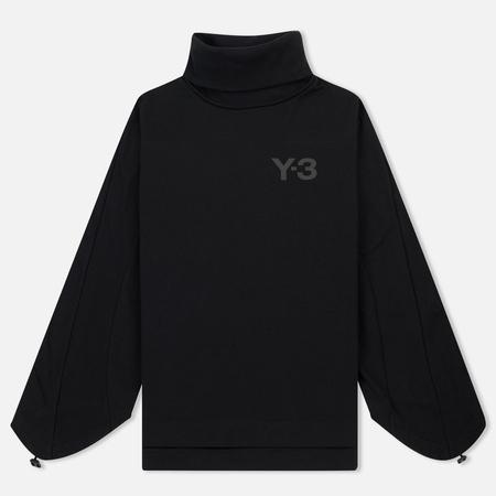 Женская толстовка Y-3 Tube Logo Turtle Neck Black