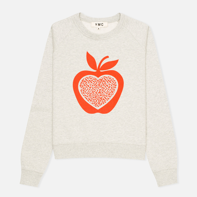 YMC Apple Women's Sweatshirt Grey/Red