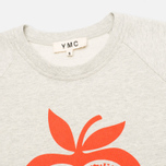 YMC Apple Women's Sweatshirt Grey/Red photo- 1