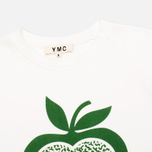 YMC Apple Women's Sweatshirt White/Green photo- 1