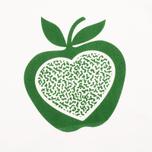 Женская толстовка YMC Apple White/Green фото- 2