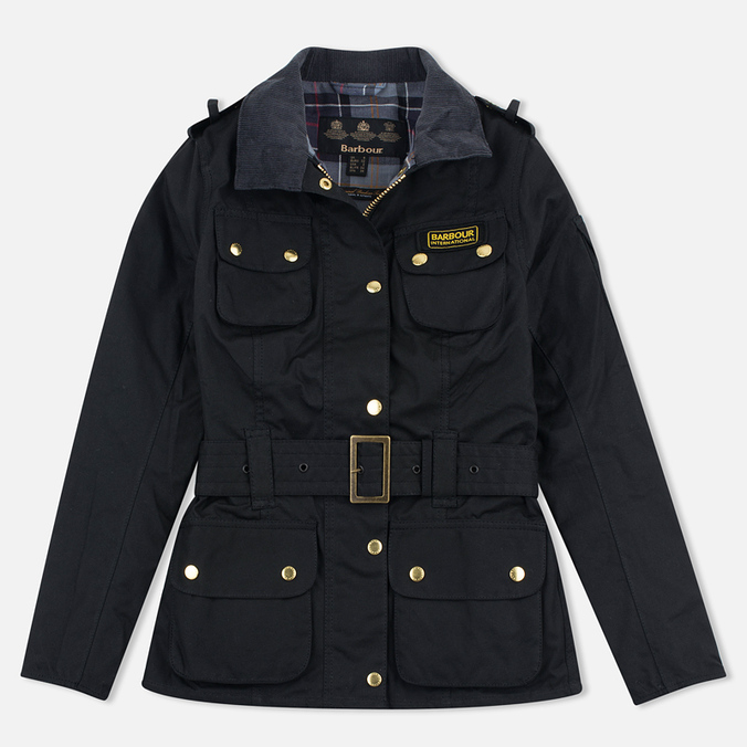 Barbour International Wax Women's Waxed Jacket Black