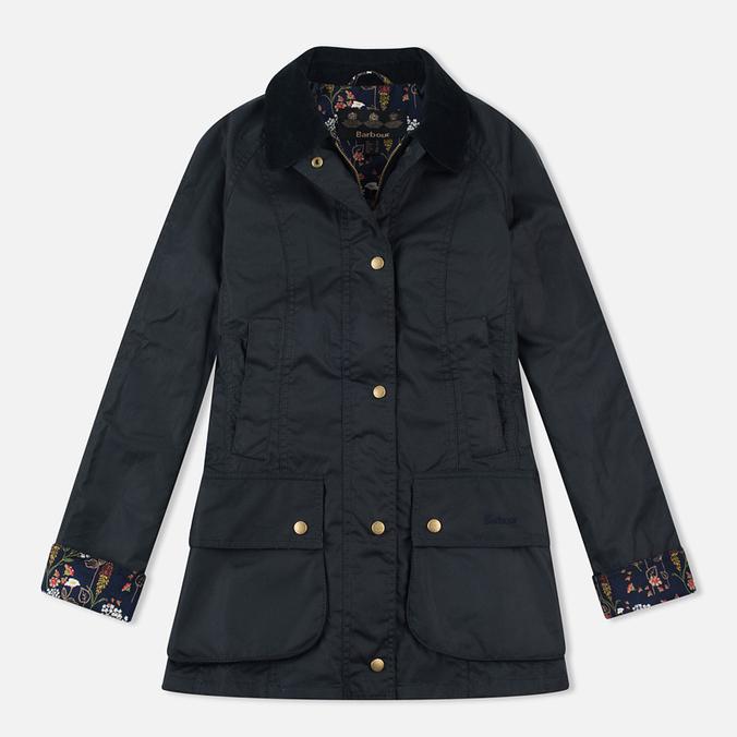 Barbour Monteviot Wax Women's Waxed Jacket Navy