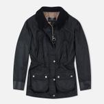 Женская вощеная куртка Barbour x Land Rover Wadeline Wax Black фото- 0