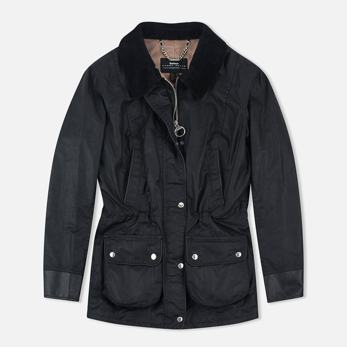 Женская вощеная куртка Barbour x Land Rover Wadeline Wax Black