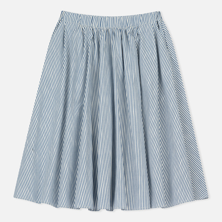 Женская юбка Maison Kitsune Cotton Stripes Estelle Blue Stripe