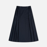Maison Kitsune Michele Pleated Midi Skirt Dark Navy photo- 1
