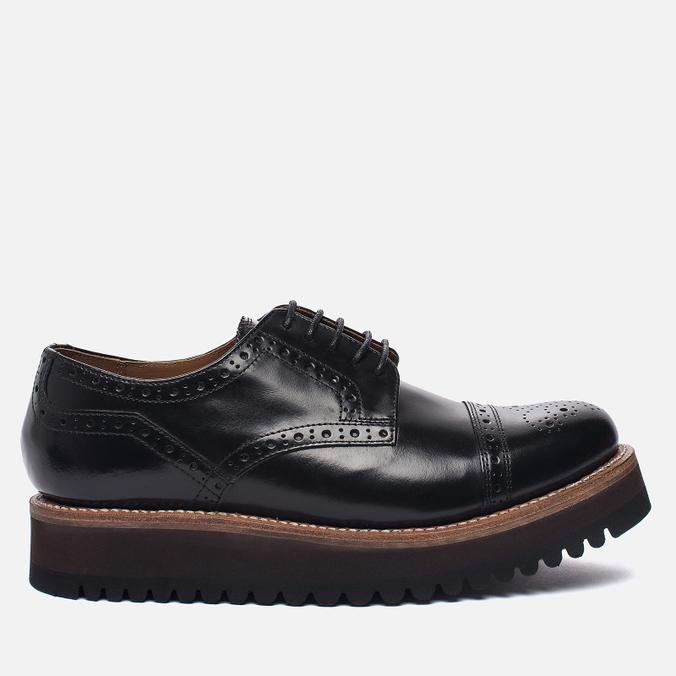 Женские ботинки броги Grenson Lucy Brogue Sole Wedge Black