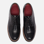 Женские ботинки броги Grenson Lucy Brogue Sole Wedge Black фото- 4
