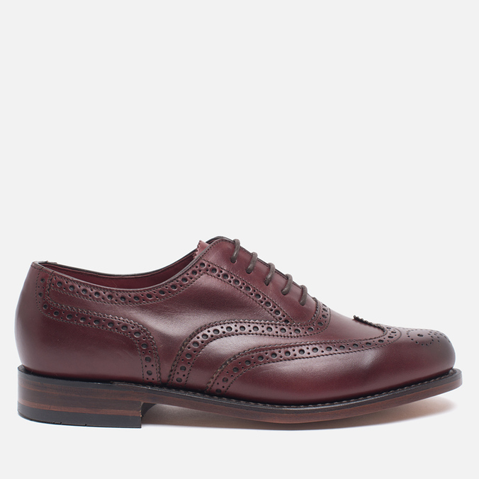 Loake VIV Calf Brogue Women's Brogue Burgundy