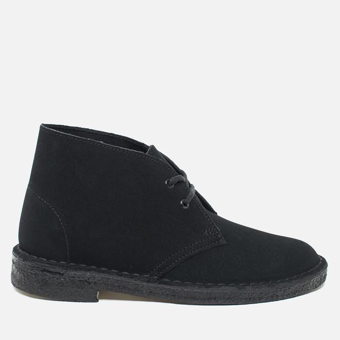 Clarks Originals Desert Boot Suede Women's Shoes Black