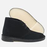 Clarks Originals Desert Boot Suede Women's Shoes Black photo- 2